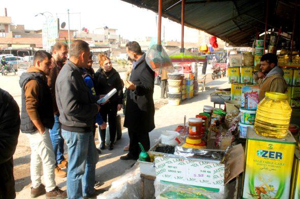 شعب تموين الحسكة تحرّر مخالفات بسبب انتهاء صلاحية أو عدم إعلان أسعار أو بيع مواد إغاثية